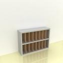 Szafka na papier 15x15cm leżąca dwa poziomy - (przestrzeni: 16)