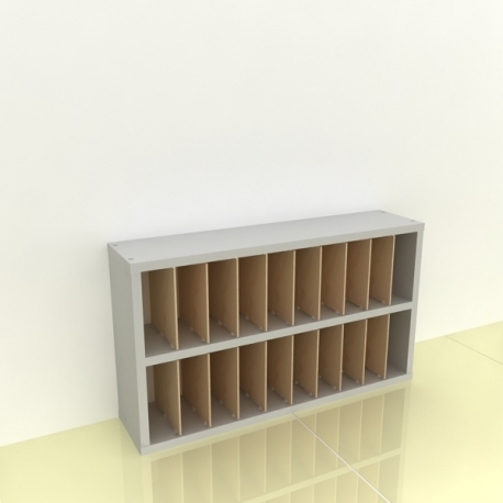 Szafka na papier 15x15cm leżąca dwa poziomy - (przestrzeni: 20)