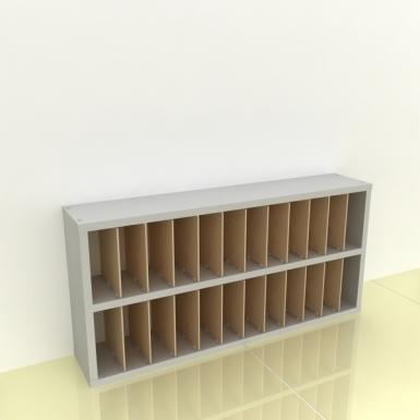 Szafka na papier 15x15cm leżąca dwa poziomy - (przestrzeni: 24)