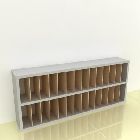 Szafka na papier 15x15cm leżąca dwa poziomy - (przestrzeni: 28)