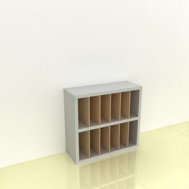 Szafka na papier 15x15cm leżąca dwa poziomy - (przestrzeni: 12)