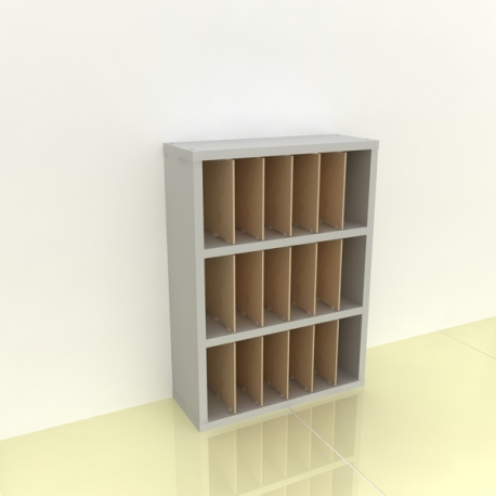 Szafka na papier 15x15cm leżąca trzy poziomy - (przestrzeni: 18)