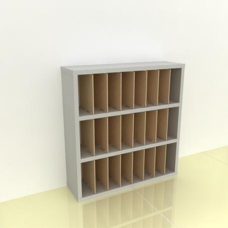 Szafka na papier 15x15cm leżąca trzy poziomy - (przestrzeni: 24)