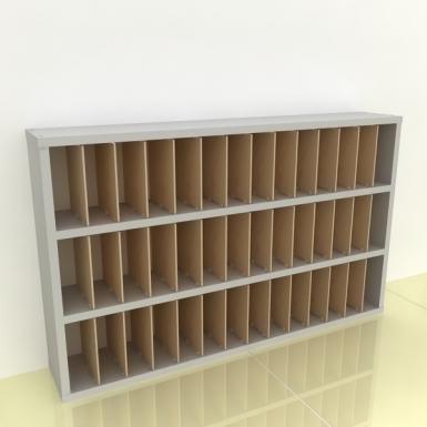 Szafka na papier 15x15cm leżąca trzy poziomy - (przestrzeni: 42)