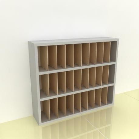 Szafka na papier 15x15cm leżąca trzy poziomy - (przestrzeni: 30)